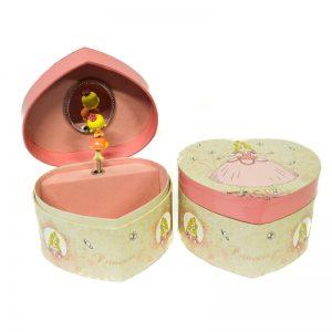 μπιζουτιερα μουσικο κουτι με κοριτσακι ροζ