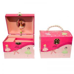 μουσικο κουτι ροζ μπαλαρινα