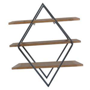 54646 ραφιερα μεταλλικη ξυλινη μοντερνα