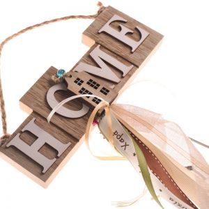 ξυλινο χειροποίητο διακοσμητικό για τον τοιχο γουρι δωρο