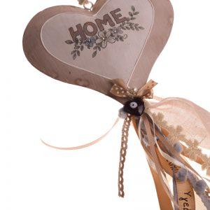 χειροποιητο διακοσμητικο γουρι τοιχου καρδια μεταλλικη home