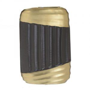 βαζο κεραμικο μαυρο χρυσο ιναρτ 3-70-320-0015