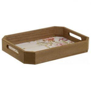 3-70-415-0009 ξυλινος δισκοσ με σχεδιο λουλουδια