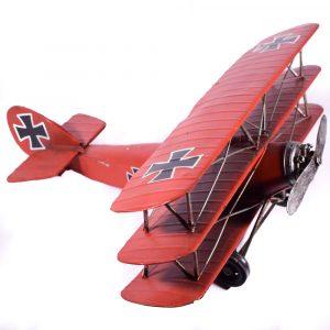 Τριπλάνο Κόκκινο 44-7706 vintage διακοσμητικο-2